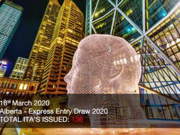 Latest Alberta draw invites 136
