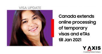 Canada temp visa application processing till Jan '21