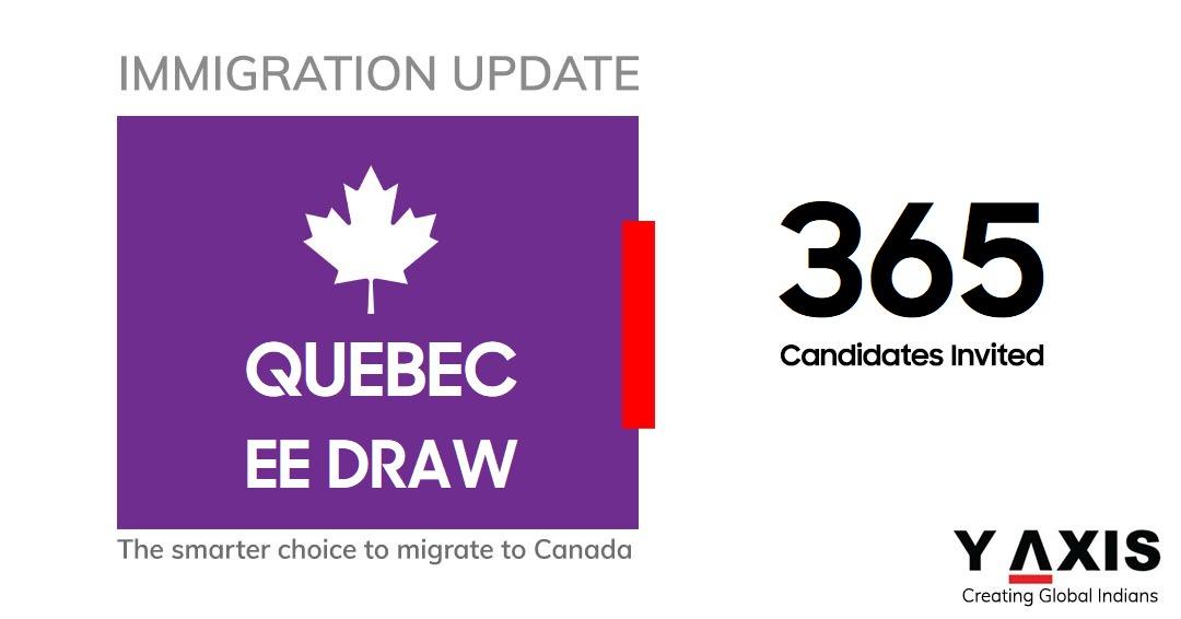 Quebec invites 365 immigrants in latest draw