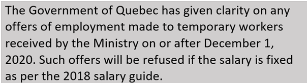 Quebec's employers of foreign workers tooffer new wage rate