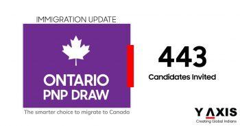 Ontario invites 443 through the HCP stream of the OINP