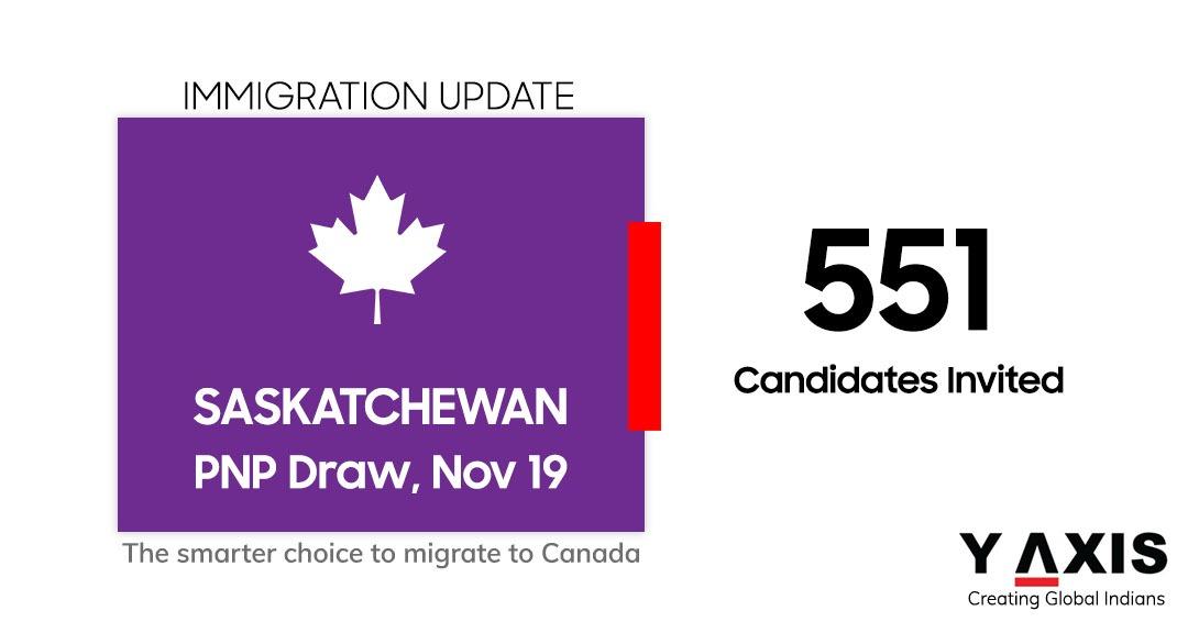 Saskatchewan PNP draw 551 invites