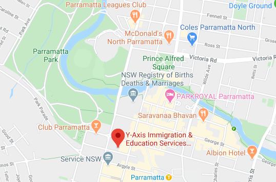 Y-Axis Immigration Education Services - US UK EU Canada Germany Australia - Google Maps
